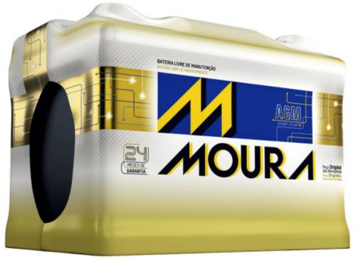 Bateria Start Stop Moura AGM 80Ah MA80CD